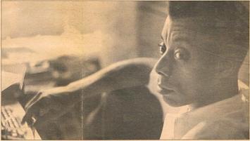Classic 1958 photograph of James Baldwin by Motike Weissman.