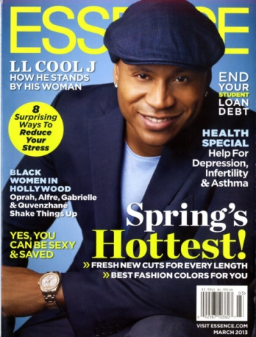 LL Cool J on cover of March 2013 ESSENCE Magazine