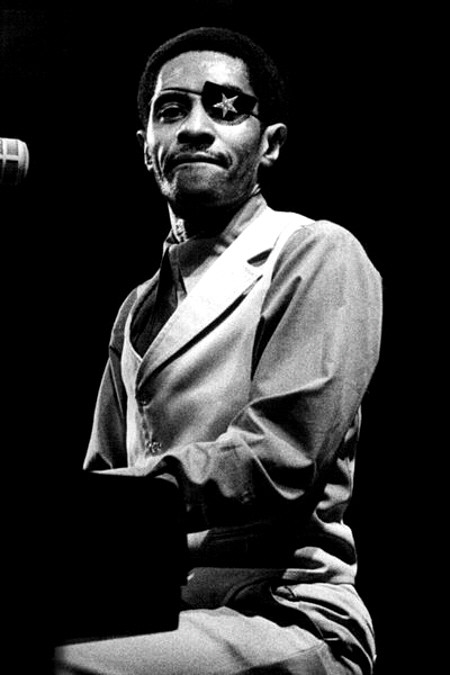 Musical genius James Carroll Booker III at the piano. (photo Wikepedia Creative Commons Share License)