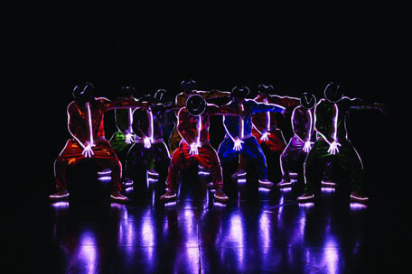 Dancers light up the stage in Cirque du Soleil's staging of