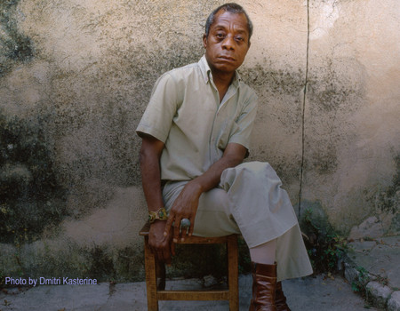 Photo of author James Baldwin by Dmitri Kasterine