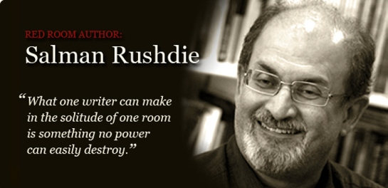 Salman Rushdie former Red Room banner photo from Internet Archive Wayback Time Machine