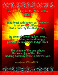 Rainbow-Song for the Angel of Tao poetry art panel No. 2 by Aberjhani